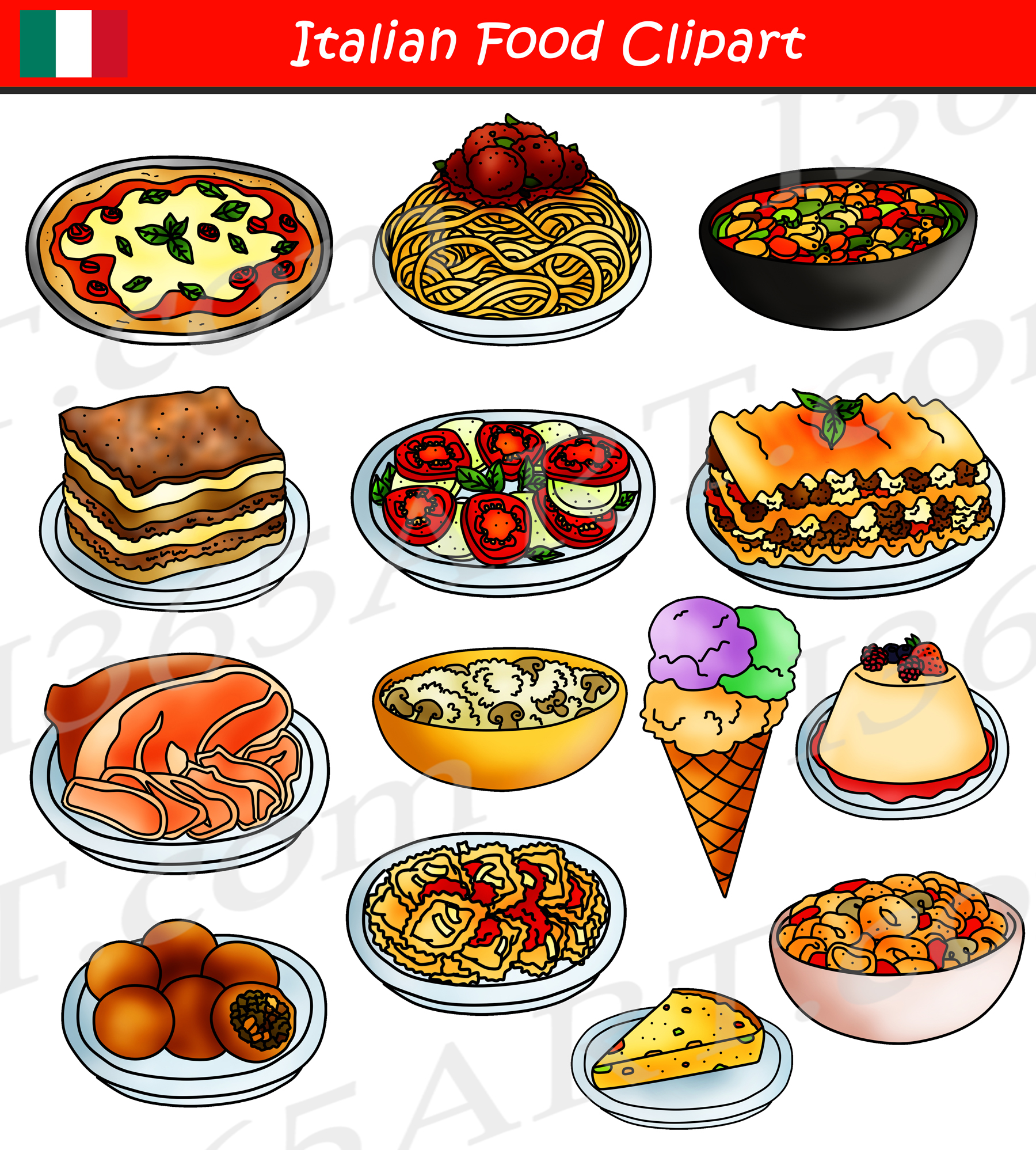 Italian Food Clipart International Food Graphics.