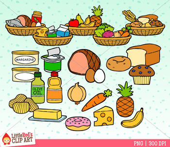 Nutrition Food Groups Clip Art.