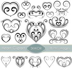 Heart Clipart Hearts Bunting Clip Art Valentines Garland.