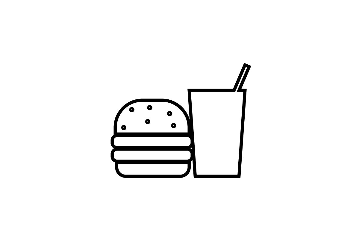 Fast food icon vector EPS 10.