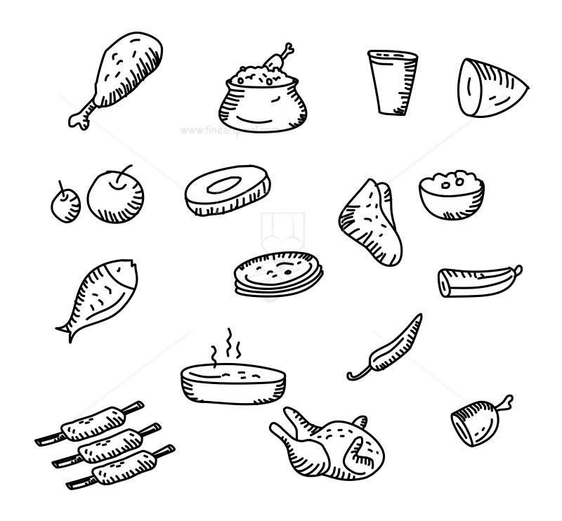 Food illustration.