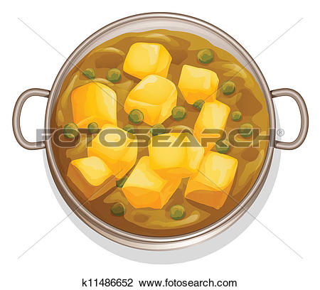 Clipart of indian food k11486652.