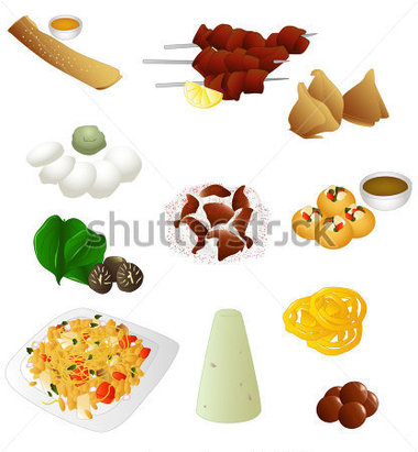 India Food Clipart.