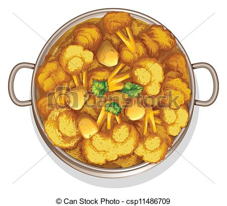 Vector Clipart of food.