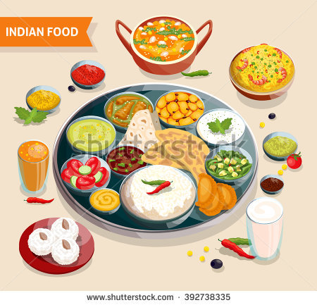 Indian Food Stock Photos, Royalty.