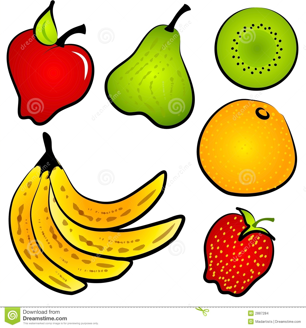 Clip art healthy food.
