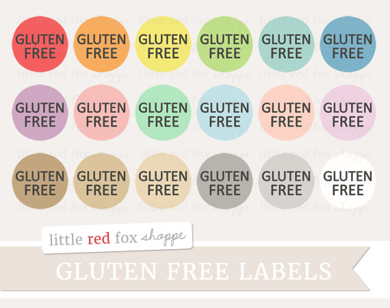 Gluten Free Label Clipart, Food Label Clip Art Food Allergy.