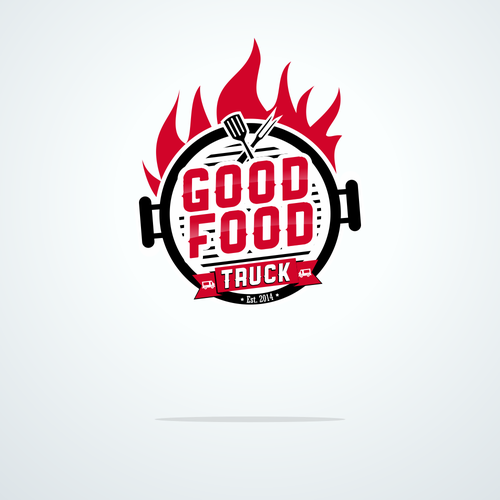 Create a logo and exterior design for FOOD TRUCK.
