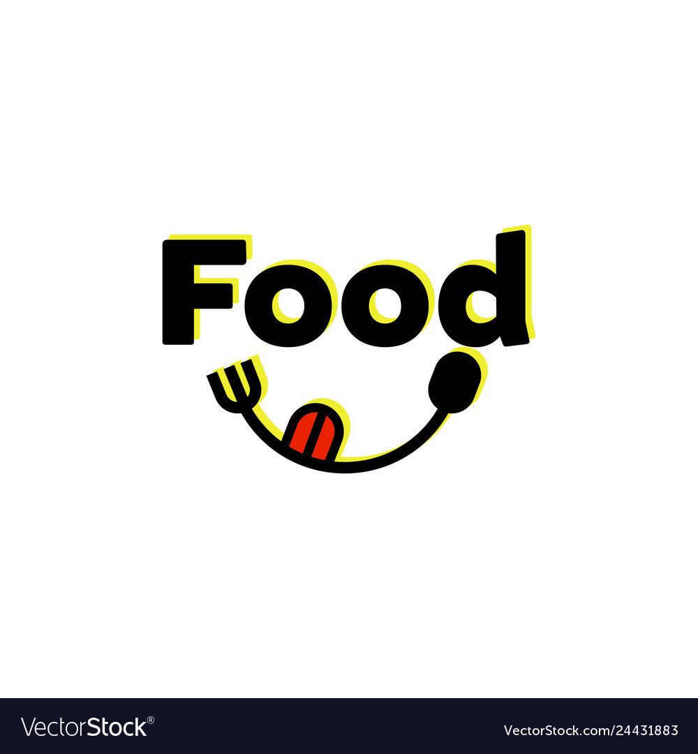 Food logo designs with spoon and fork.