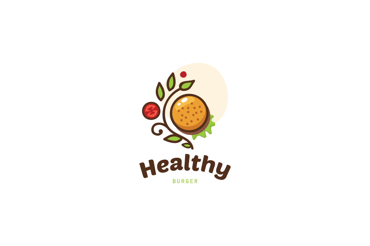 Healthy Burger Logo.