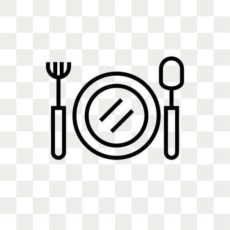 Food Vector Icon Isolated On Transparent Background, Food Logo.