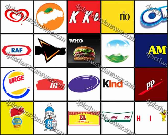 100 Pics Food Logos Answers.