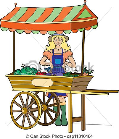 Clip Art Vector of Greengrocer.