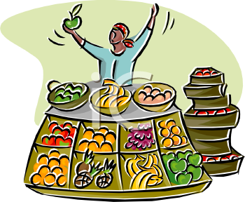 Food open market clipart.