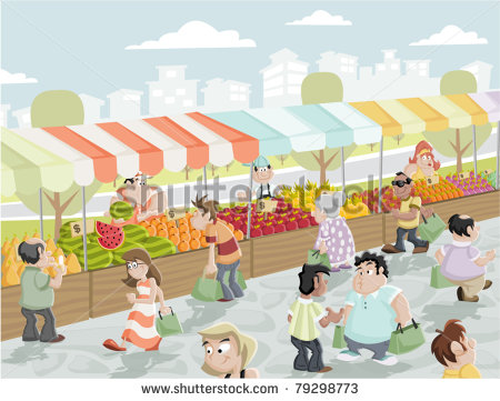 Market Stand Clipart.