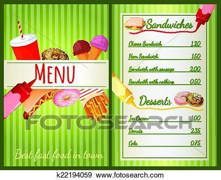 Food menu clipart 2 » Clipart Portal.