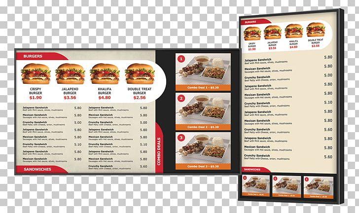 Fast Food Menu Restaurant Papa John's Digital Signs PNG, Clipart.
