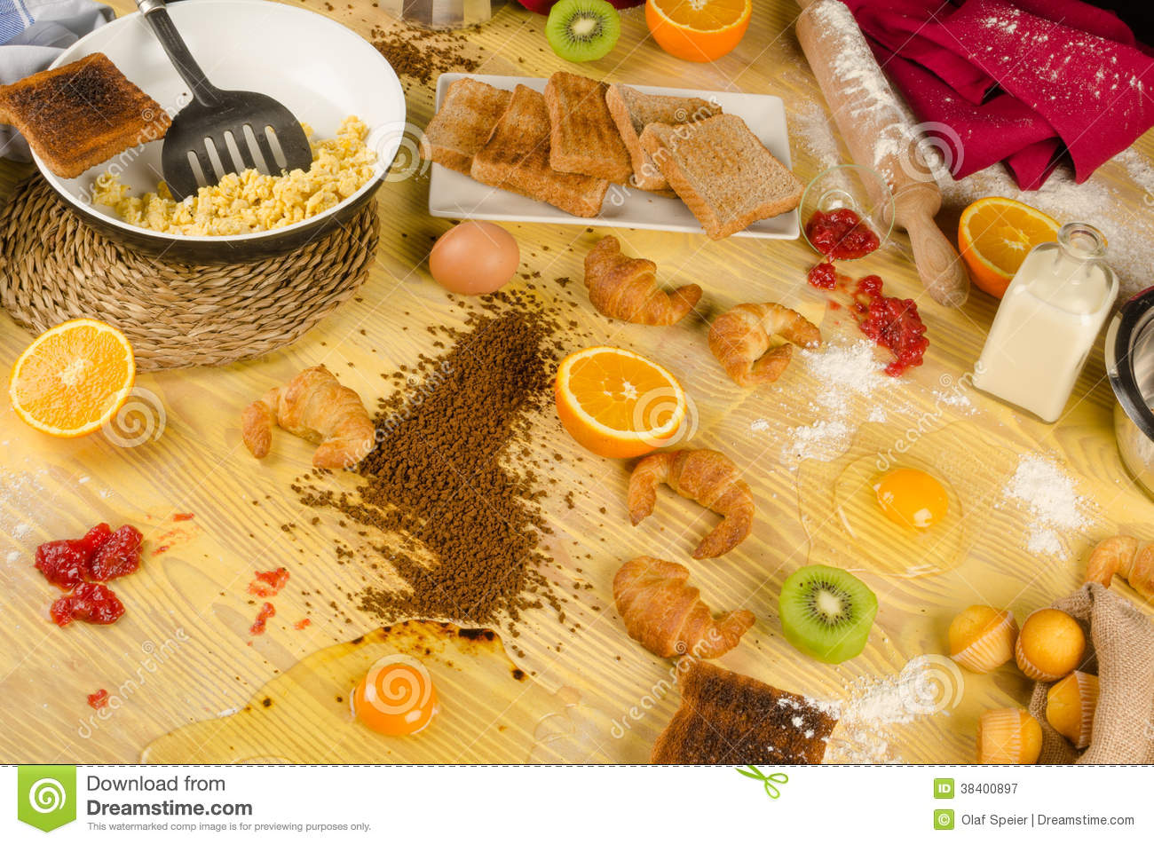 Food Mess Stock Images.