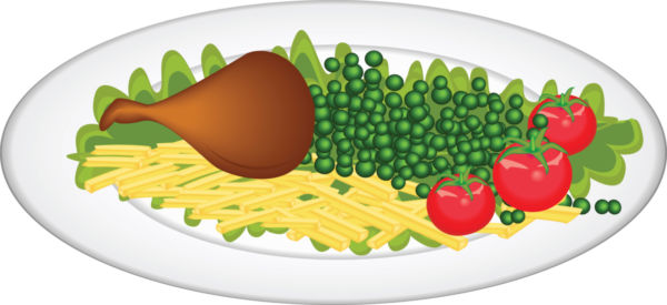 Food In Plate Clipart.