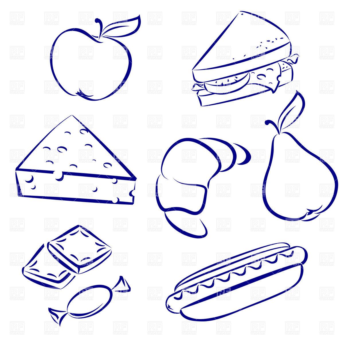 Snack food outline.