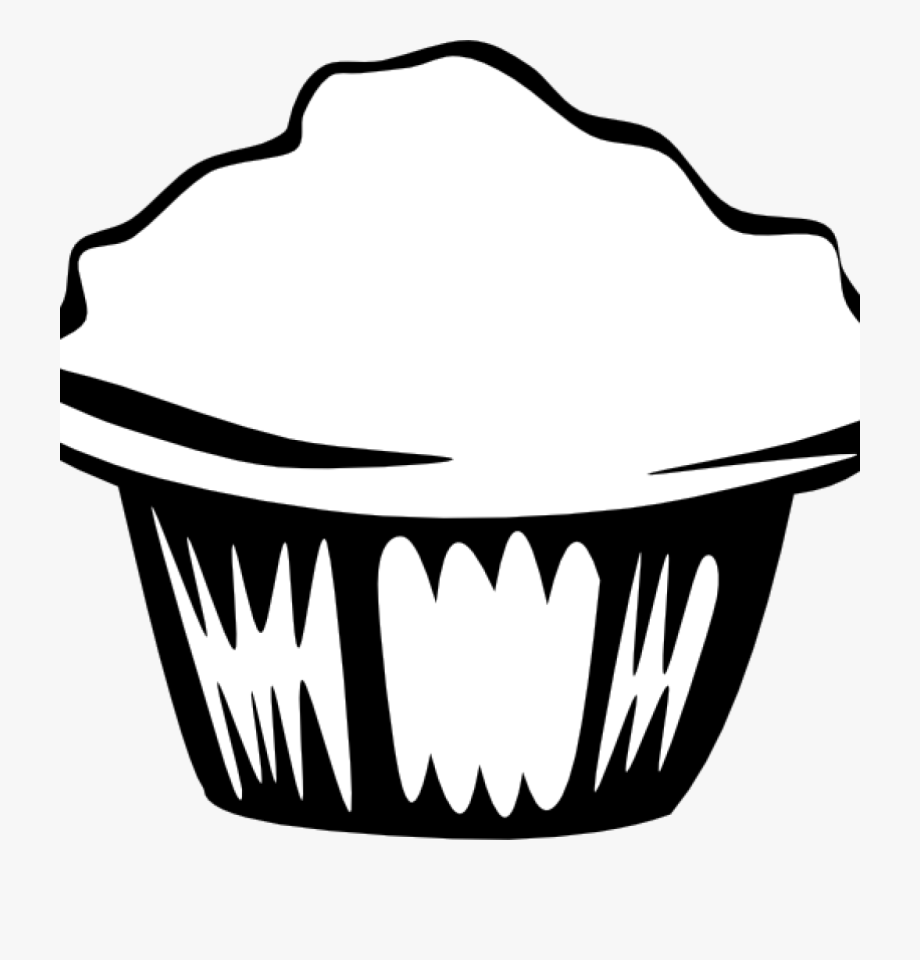 Cupcake Clipart Outline Cupcake Outline Clipart Black.