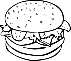Food Clipart Outline.