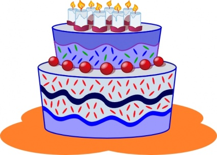 Food Cake Party Dessert Freephile Clipart Graphic.