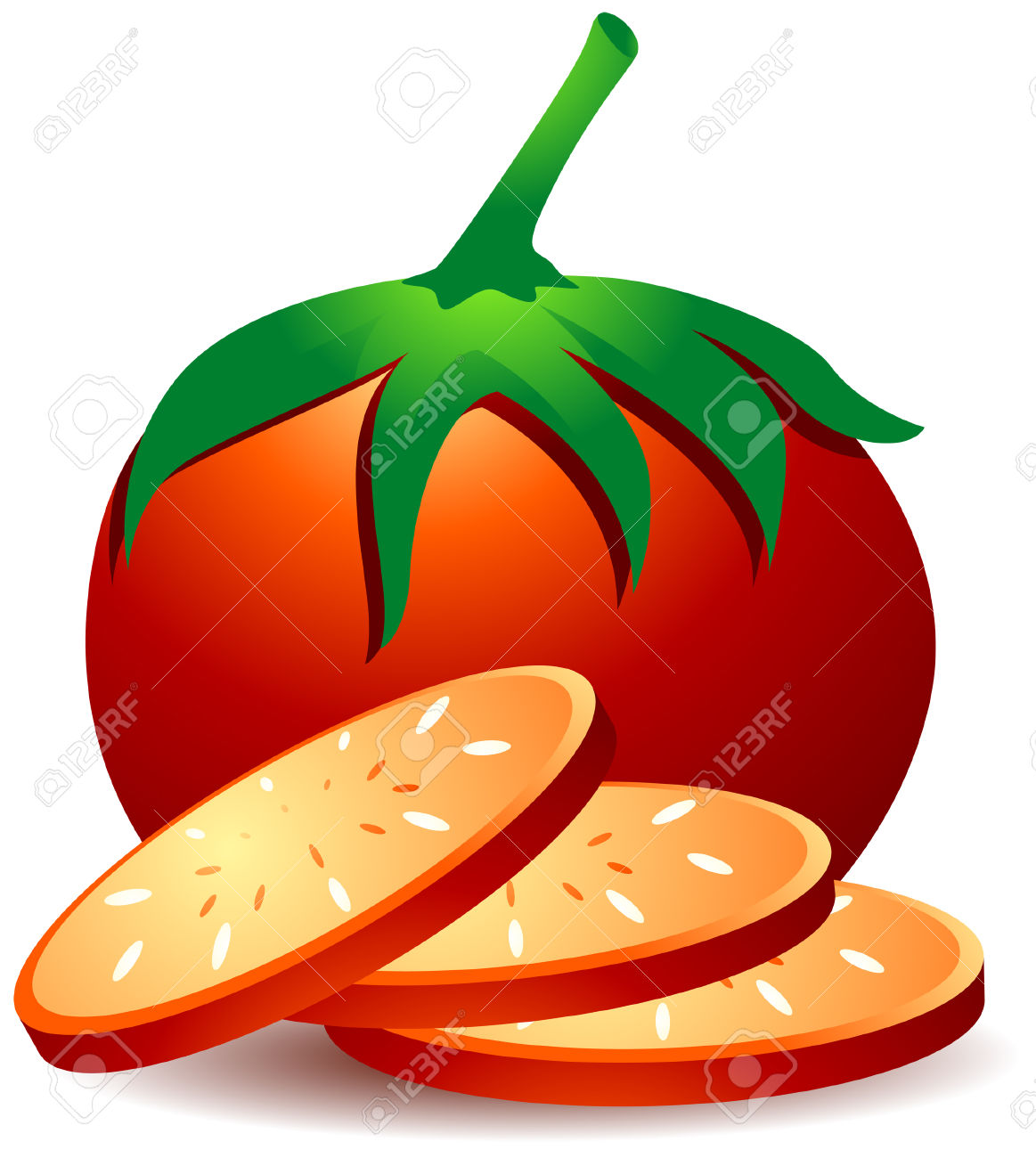 Tomatoes Illustration With Clipping Path Royalty Free Cliparts.