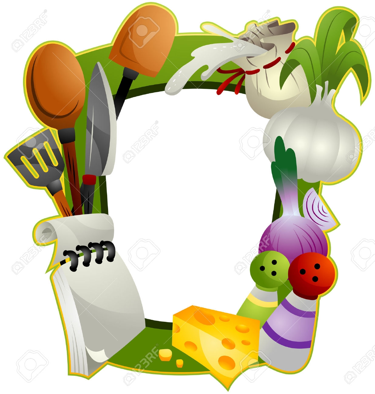 Clipart food borders frames.