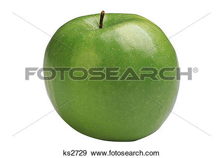 Stock Photograph of Food Icons, Apple, Clipping Path, Education.