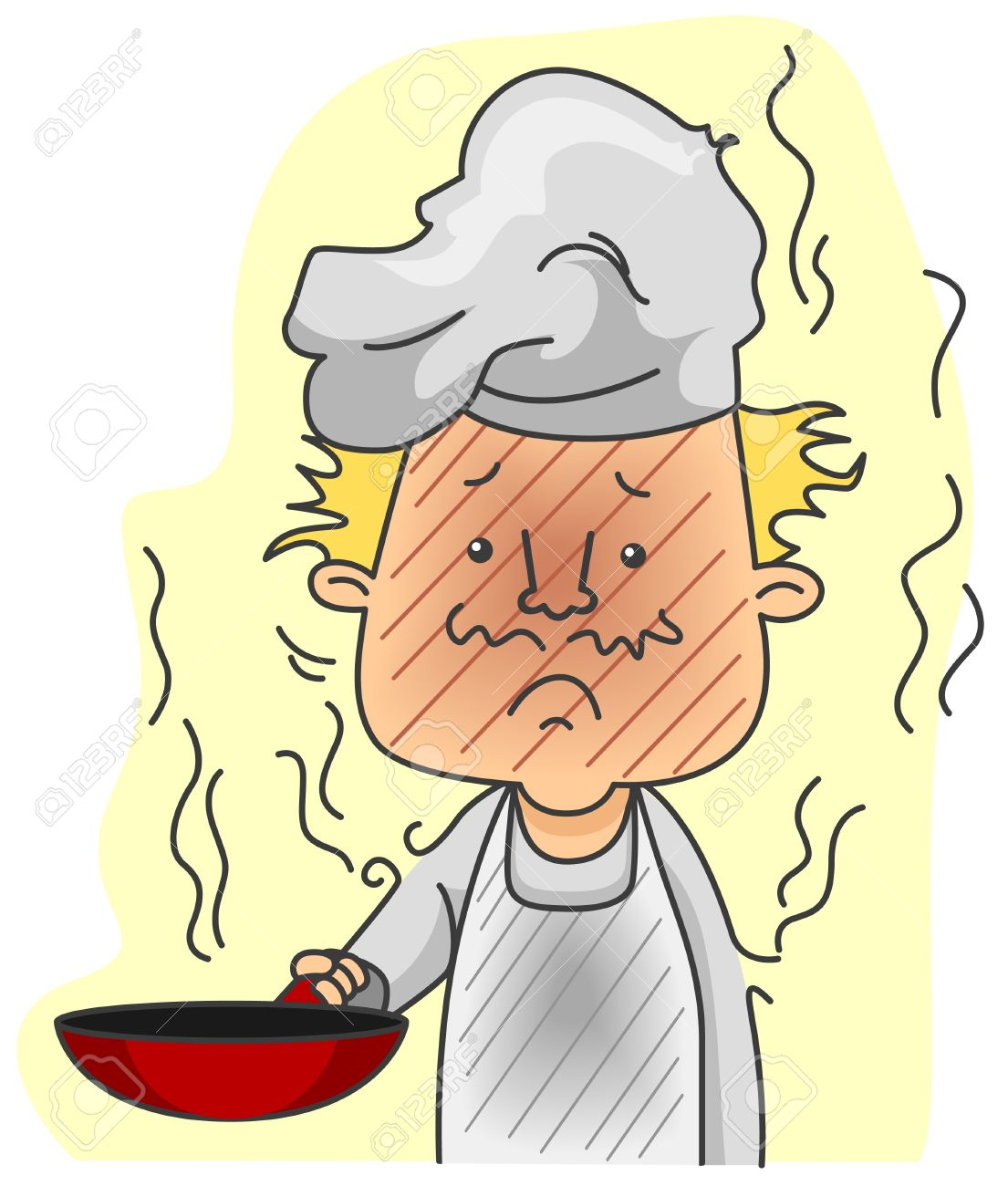 Burned food clipart.