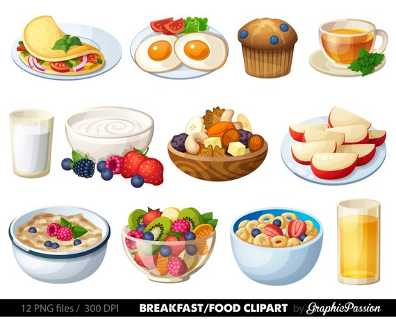 Breakfast Clipart Food clipart Dessert clipart Food clip art.
