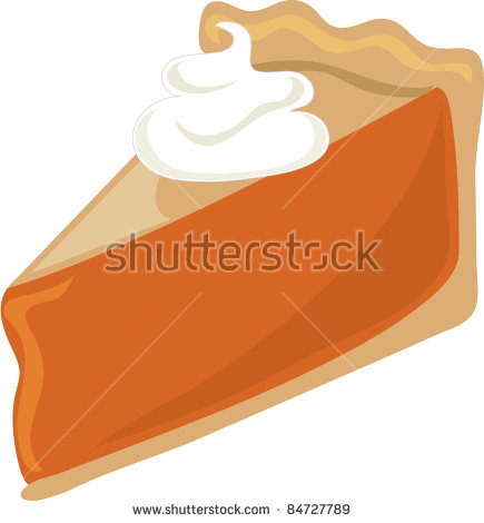 Clip Art Illustration Of A Food Icon Of A Piece Of Pumpkin Pie.