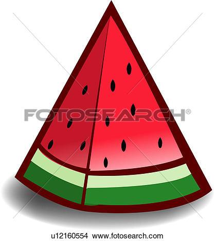 Clipart of fruit, plants, plant, food, watermelon u12160554.