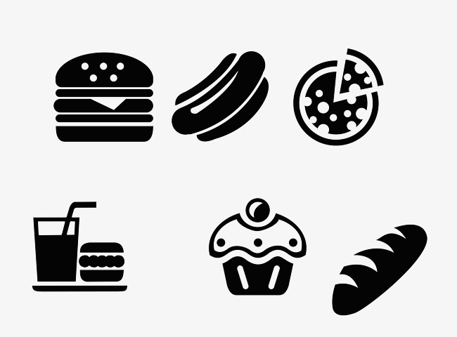 Black And White Western Fast Food Logo, #82171.