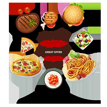 Food Vector, Free Download Food logo, Food menu, Foods Vector Art.