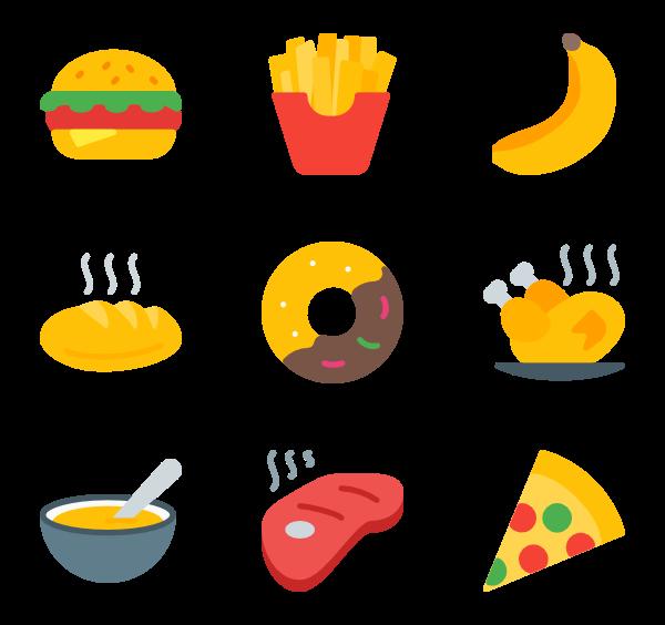 26 pixel food icon packs.