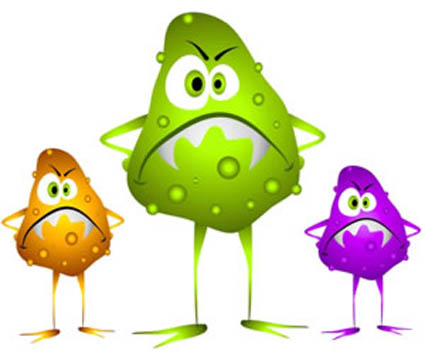 Food Poisoning Bacteria Clipart.