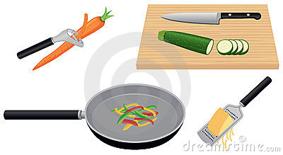 Fresh Food Cutting Board Stock Illustrations.