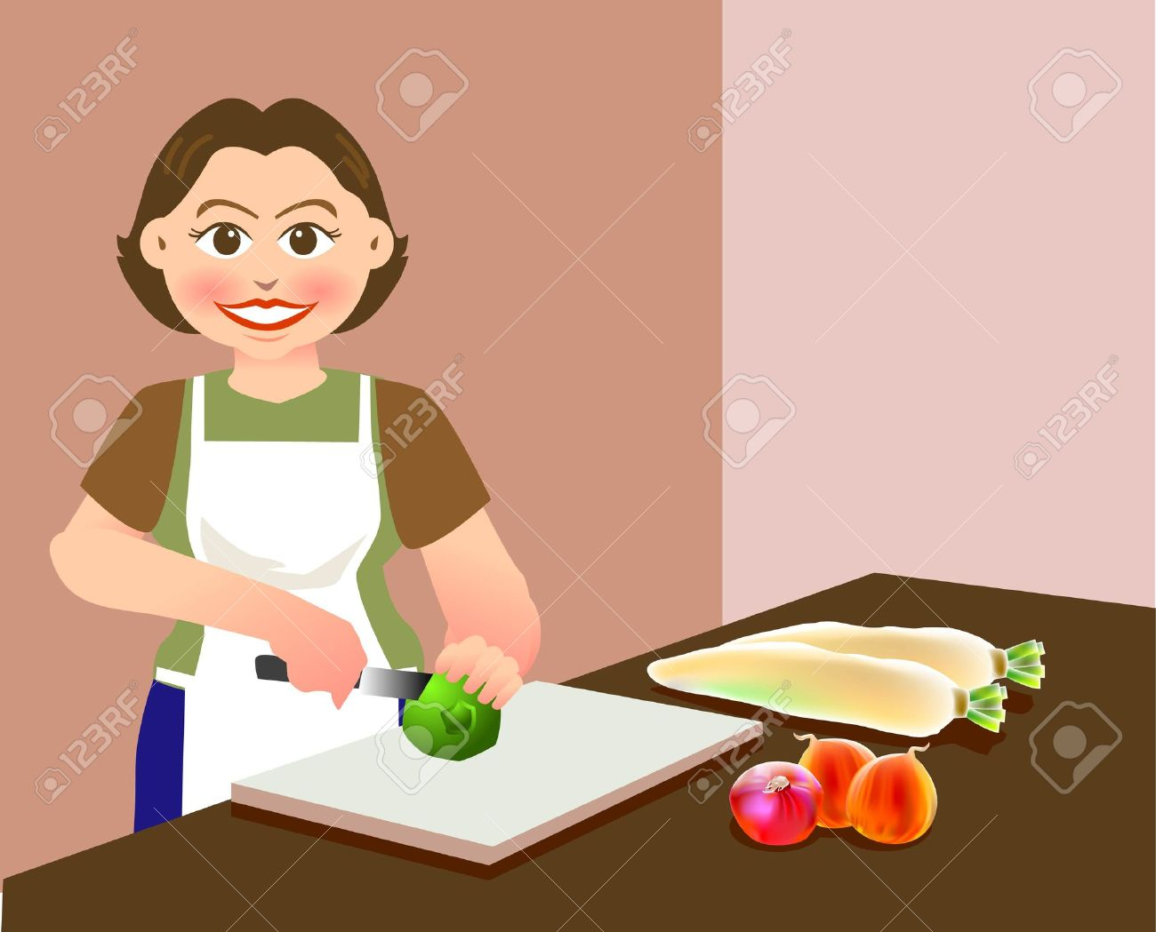 Clipart preparing food.