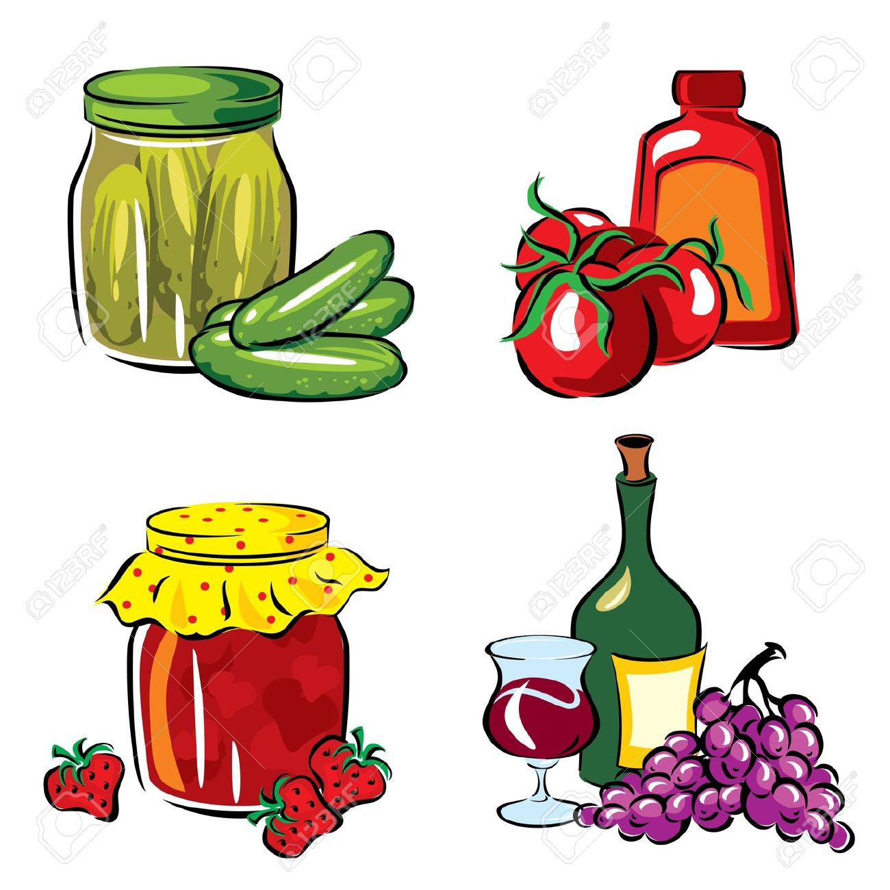 Food manufacturing clipart.