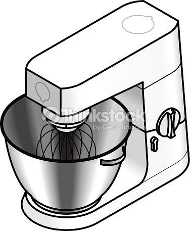 Mixer Food Processor Vector Art.