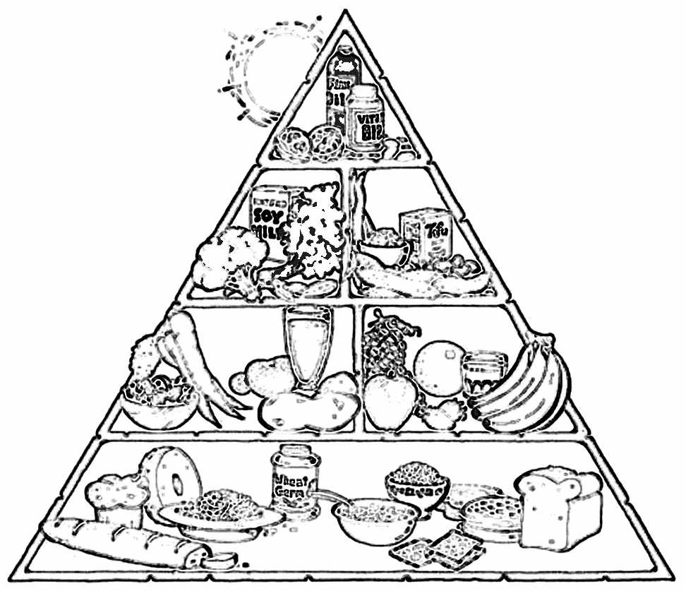 Food pyramid clipart black and white 10 » Clipart Station.