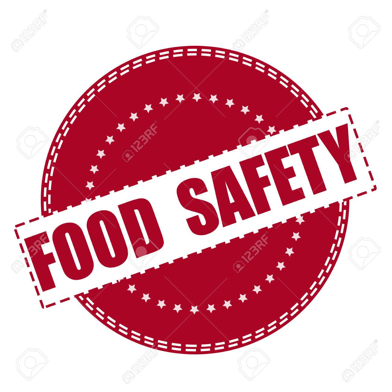 food safety grunge stamp with on vector illustration.