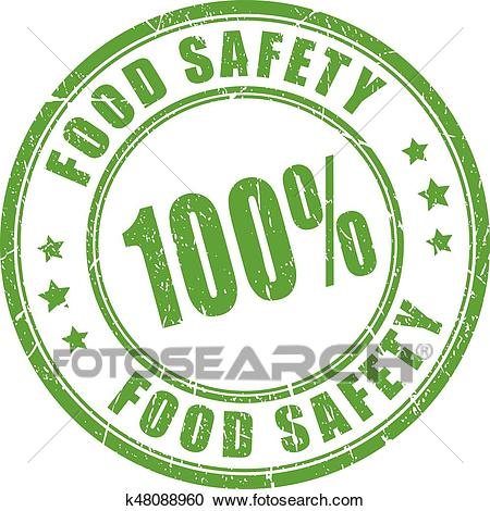 Food safety rubber stamp Clipart.