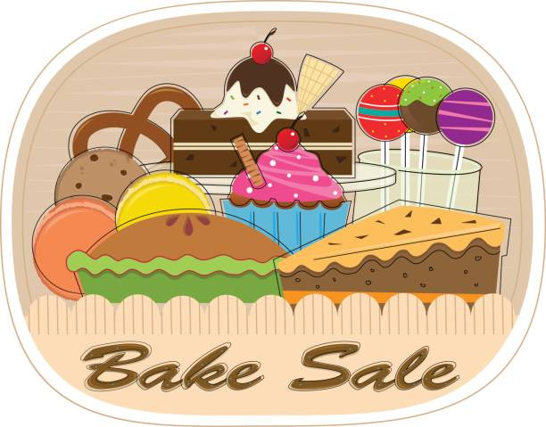 Beautiful Bake Sale Clip Art.