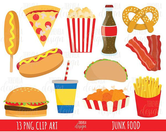 50% SALE junk food clipart, fast food clipart, commercial use, food.