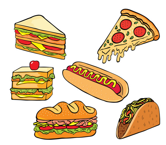 50% OFF SALE Fast Food Clipart Junk Food Clipart Hot Dog.