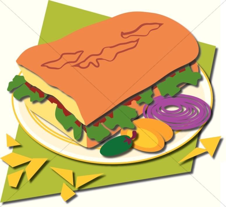 Church Food Clipart, Church Potluck Images.