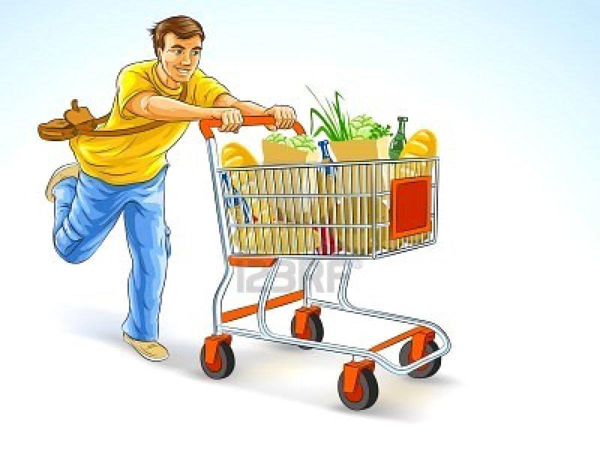 Grocery shopping bingo.